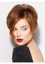 100% Remy Human Hair Fascinating Capless Short Wig