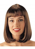 Medium Length Capless Straight Wig With Inner Hair End