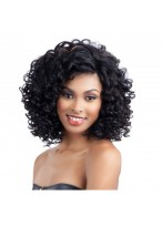 Afros Black Capless Curly Wig