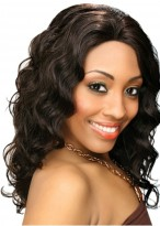 "18"" Charming Remy Human Hair Wavy Full Lace Wig"
