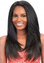 "20"" Length Straight Heat Resistant Full Lace Remy Human Hair Wig"