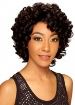 Afros Curly Full Lace Remy Human Hair Wig