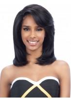 Remy Human Hair Soft Medium Length Full Lace Wig