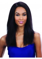 "Black 18"" Straight Capless Wig With Layers"