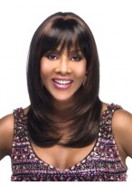 Black Medium Length Lace Front Remy Human Hair Wig