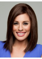 Brown Average Cap Size Lace Front Remy Human Hair Wig