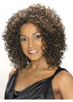 Lace Front Medium Length Curly Synthetic Wig