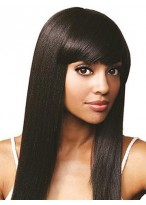 "20"" Silky Straight Remy Human Hair Lace Front Wig"