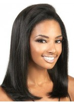 """14""""  Yaki Straight Remy Human Hair Lace Front Wig"""