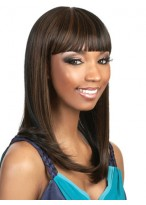 Long Sleek Cleopatra Style With Bold Bangs Wig