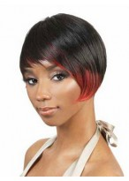 A-Symmetrical Cut Synthetic Capless Wig