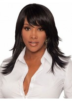 Long Feathery Flared Layers Synthetic Wig