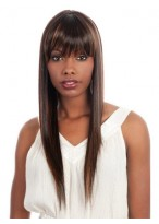 Long Silky Straight Capless Synthetic Wig