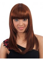 "20""  Straight Full Bangs Synthetic Wig"