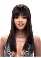 Extra Long Straight Lace Front Synthetic Wig
