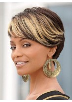 Short Cut Layering Capless Synthetic Hair Wigs