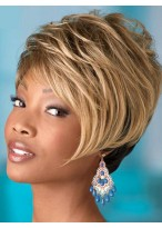 Short Capless Layering Straight Synthetic Wig