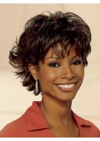 Synthetic Wavy lace front Short Length Wig