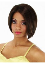 Smooth Straight Short bob style Synthetic Wig