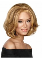 Synthetic Bob Style Mid-length Wig