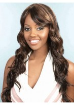 Extra Long Water Wavy Side Fringe Synthetic Wig