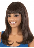 Full Bang Long wavy Synthetic Capless Wig