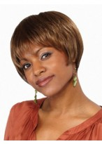 Natural Short Cut Synthetic Lace Front Wig