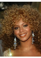 African American Medium Curly Synthetic Capless Wig