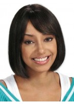 Medium Straight Synthetic Capless Wig