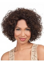 Short Curly Medium Length wig