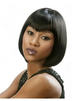 Graceful Short Straight Human Hair Wig