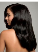 Best Long Straight Black 100% Remy Human Hair Full Lace Wig