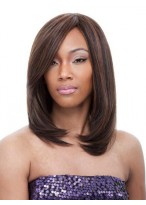 Medium Straight Lace Front Wig 100% Human Hair about 12 Inches