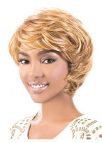 Classical Boy-cut Synthetic Wavy Wig For Black Women