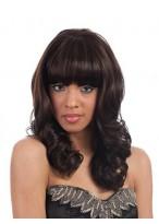 "18"" Layered Jumbo Spiral Curl Full Bang Wig"
