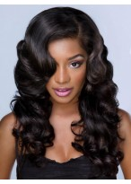 Long Wavy Full lace Human Hair African American Wigs