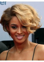 Asymmetry Human Hair Full lace Short African American Wigs
