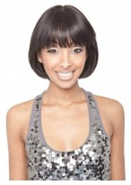 100% Human Hair Lace Wigs With Bangs