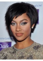 Shinning Short Curly Black African American Wigs for Women