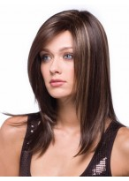 Straight Medium Length Synthetic Wig