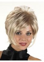 Lightweight Capless Synthetic Grey Wig