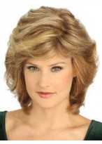 Layered Shag Lace Front Synthetic Grey Wig