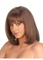 Mid-Length Capless Straight Synthetic Capless Wig