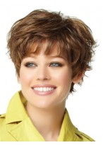 4 Short Layered Capless Synthetic Wig