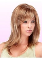 Mid-Length Straight Capless Synthetic Wig