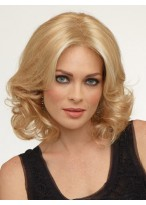 Medium Length Soft Wavy Lace Front Synthetic Wig
