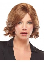 Shoulder Length Capless Wavy Synthetic Wig