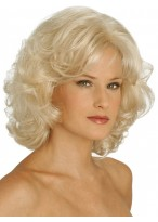 Mid-Length and Bottom Layered Wavy Synthetic Wig