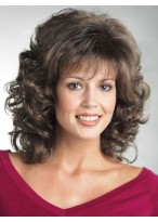 Soft Bouncy Wavy Synthetic Mid-Length Wig