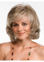 Mid-length Synthetic Lace Wig